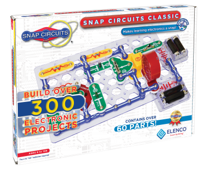 Kit Elenco Snap Circuits Clasic Plus - 310 experimente -