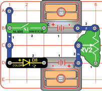 Circuite electronice pentru copii Elenco Snap Circuits® SCP11 LED FUN proiectul #4 - Snap Circuits