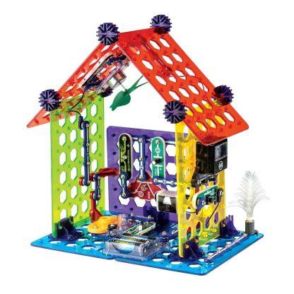 Set educativ cu circuite electronice pentru copii Elenco Snap Circuits MyHome -
