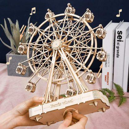 PUZZLE 3D ROLIFE® TGN01 CUTIE MUZICALA – FERRIS WHEEL, LEMN, 232 PIESE -