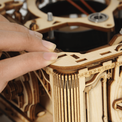 Puzzle 3D, Gramofon clasic cu manivela ROKR LKB01, 424 piese -