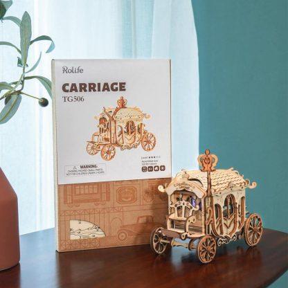 PUZZLE 3D ROLIFE® TG506 CALEASCA, LEMN, 92 PIESE -