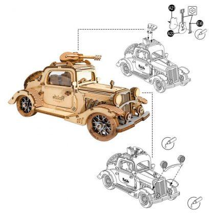 PUZZLE 3D ROLIFE® TG504 MASINA RETRO, LEMN, 164 PIESE -